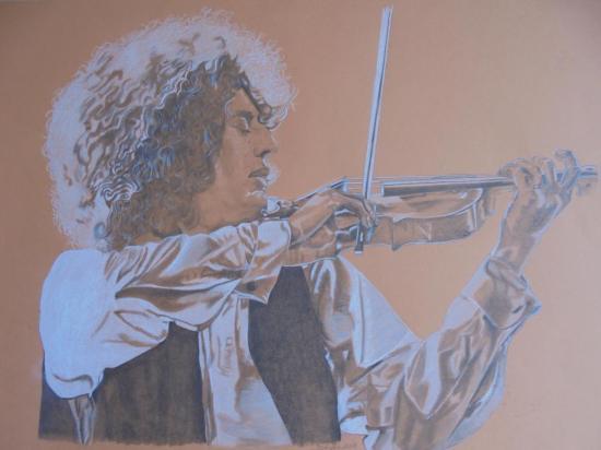 Jeune Angelo au violon