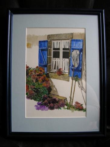 Les epuisettes, dessin aquarellé