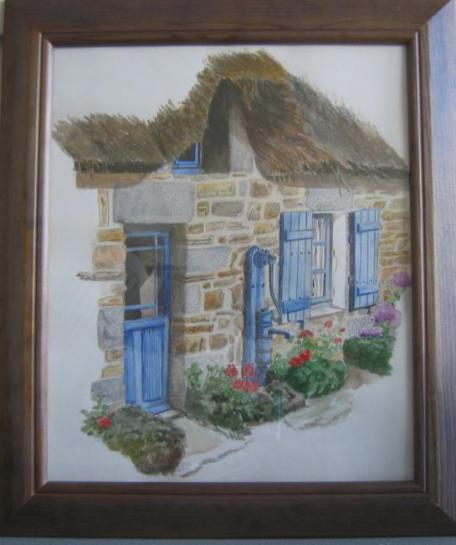 chaumiere bretonne à la pompe