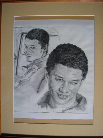 portrait de jeune homme, graphite