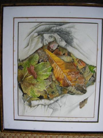 Vanité, dessin aquarellé