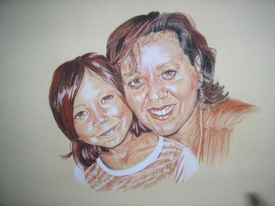 double portait mère et fille