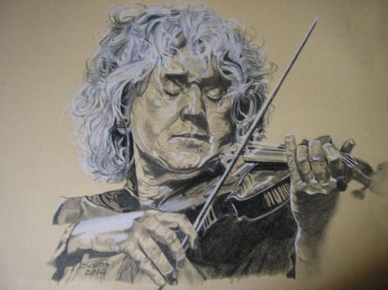 portrait au violon.Angelo Branduardi.